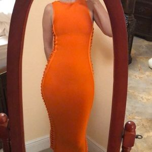 House of cb hot orange dress